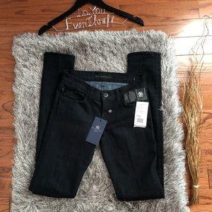 NWT Rock & Republic Black Denim Jeans Size 25